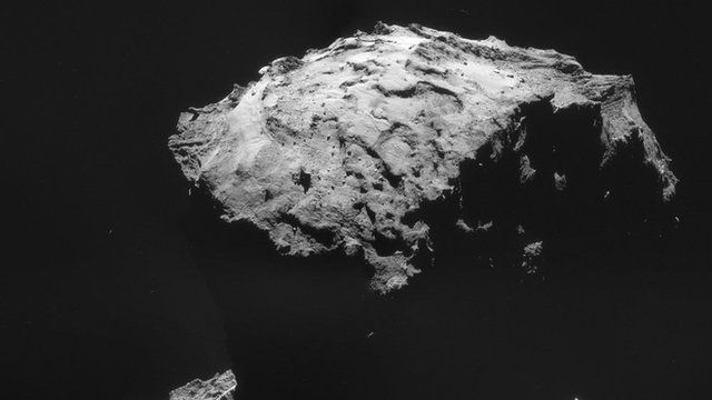 67P, image courtesy of European Space Agency