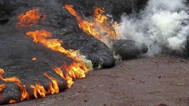Lava flow from the Kilauea Volcano