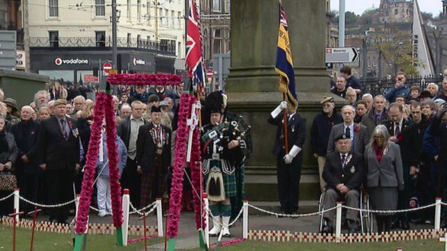 Silence observed in Edinburgh