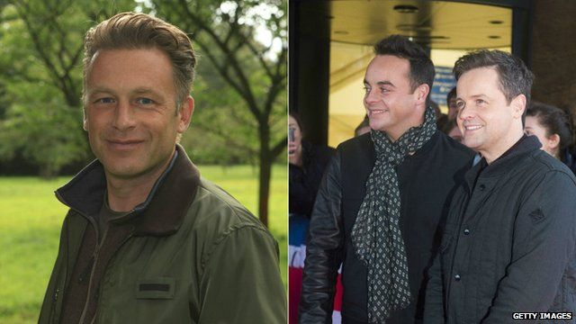 Chris Packham (left) and Ant and Dec (right)