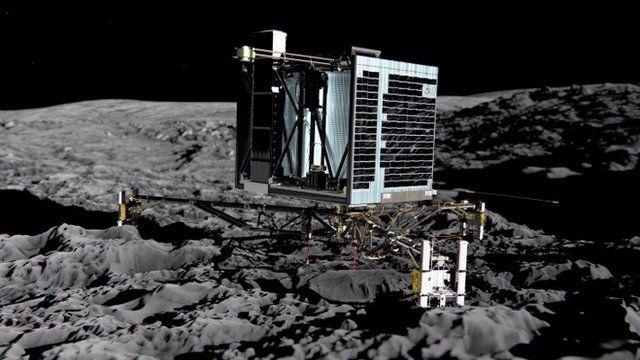 Artistic representation of probe on comet