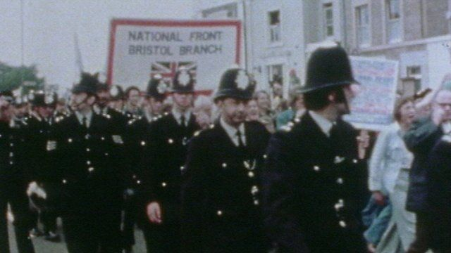 A National Front demonstration in London
