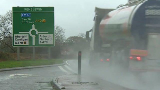 A40 road sign