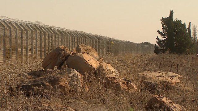 Fence on the Golan Heights