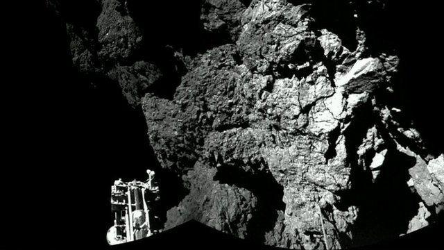 Photo take by Philae probe
