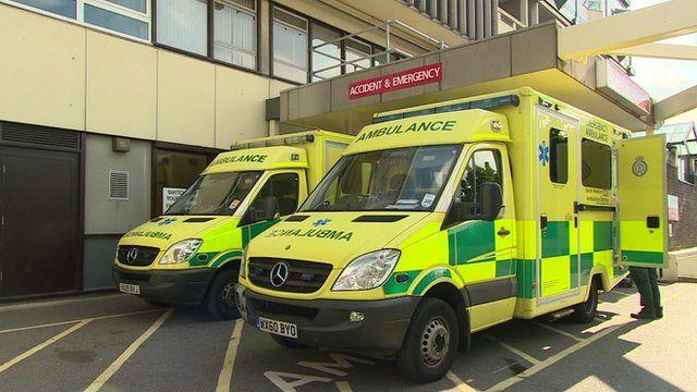 Ambulances outside Accident & Emergency