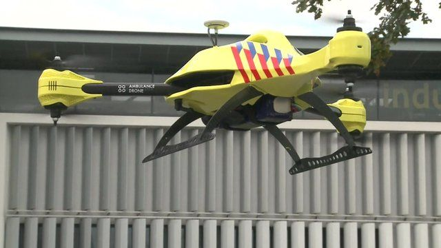 'Ambulance drone' takes to the skies