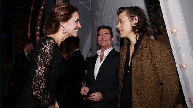 The Duchess of Cambridge meeting Harry Styles