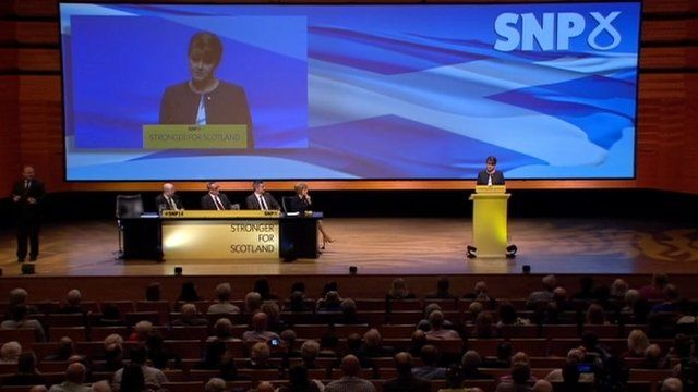 Leanne Wood at the SNP 2014 conference