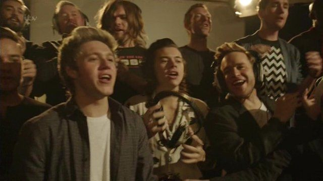 One Direction and Olly Murs record Do They Know It's Christmas