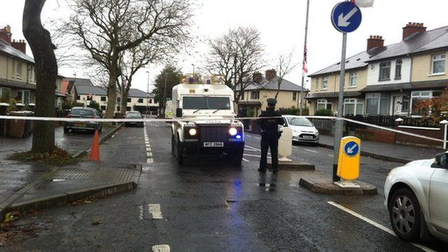 The attack happened at Twaddell Avenue in north Belfast