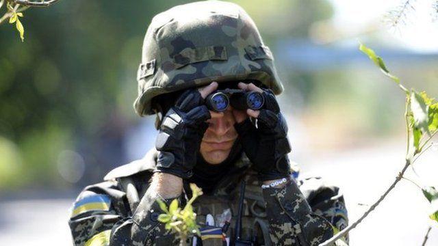 Ukrainian volunteer from Dnipro battalion (file pic)
