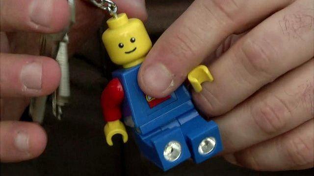 Aboud Dandashi's Lego key ring