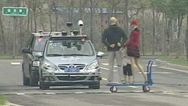 Driverless car on the competition circuit