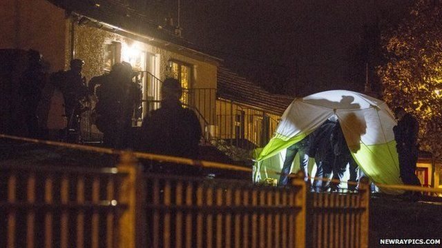 The men were arrested on 10 November at a house in Newry, County Down, as Mark Simpson reports