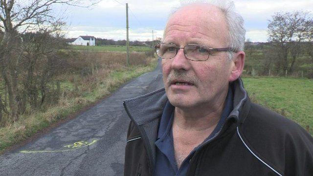 Roy Alcorn said the road flooded on 6 November