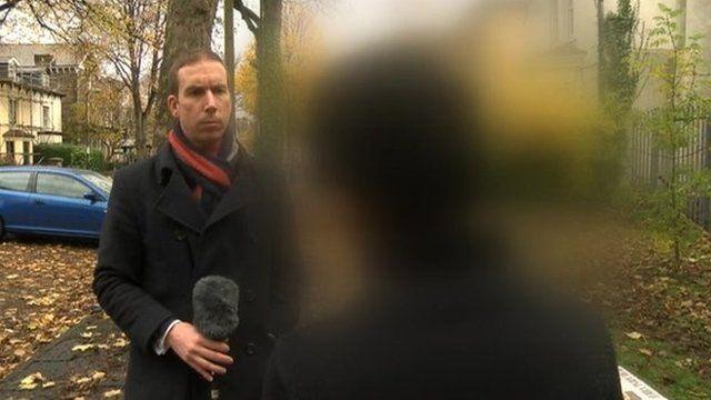 Nasser Muthana's friend talking to BBC Wales' Newyddion 9 programme