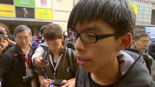 Student leader in Hong Kong