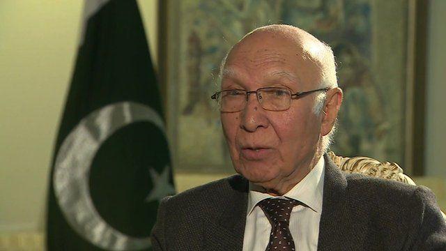 Pakistan's National Security Advisor Sartaj Aziz