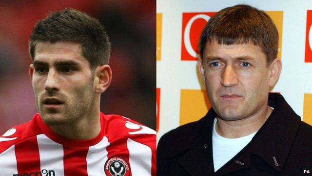 Ched Evans (left), Paul Heaton (right)