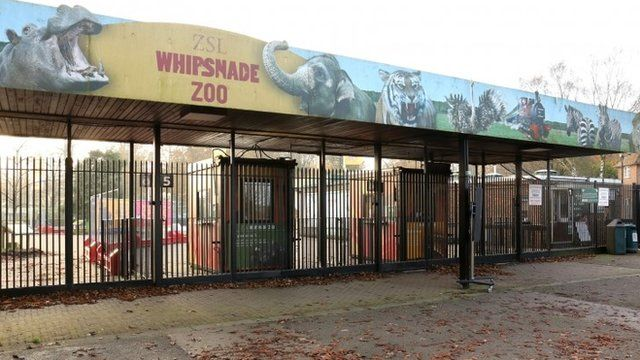 The entrance to Whipsnade zoo in Dunstable