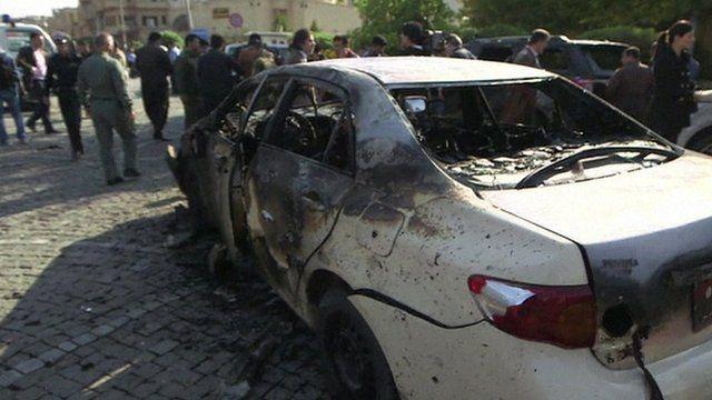 Car blast in Irbil