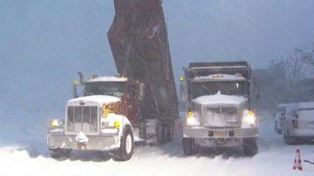 Snowstorm in Buffalo New York