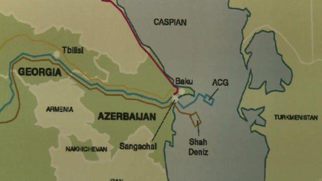 Map of Caspian Sea