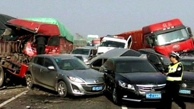 Pile-up in China