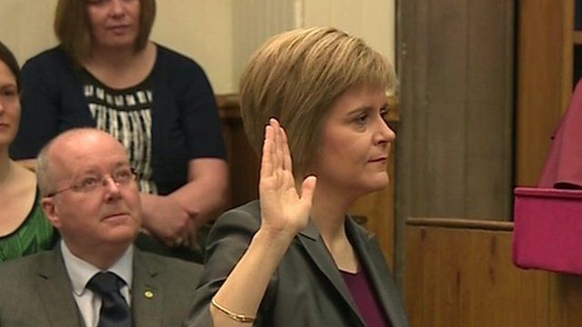 Nicola Sturgeon sworn in as Scotland's First Minister