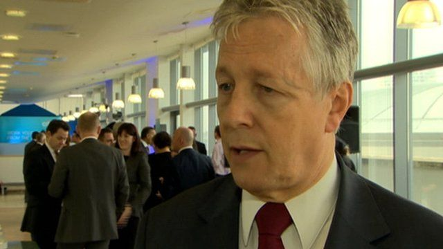 First Minister Peter Robinson welcomed the firm's announcement