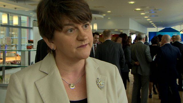 DUP assembly member Arlene Foster spoke to BBC News NI Business Correspondent Julian O'Neill