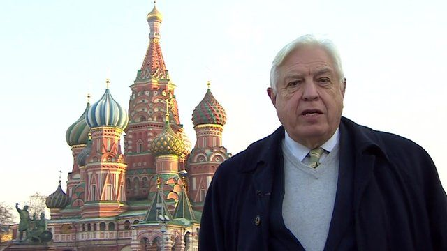 John Simpson in Red Square