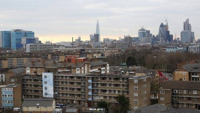 A view of East London, where the school is based