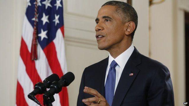 President Obama giving address