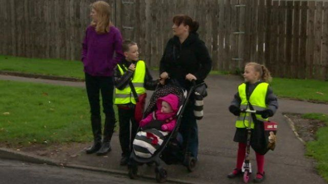BBC News NI's Colletta Smith joined one family as they travelled to school