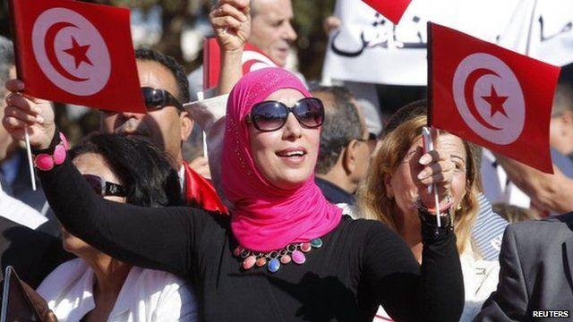 Activists in Monastir, Tunisia. Photo: 2 November 2014