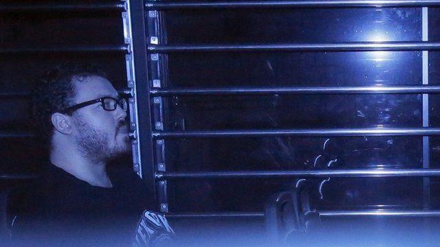 Rurik Jutting in a prison bus earlier in November