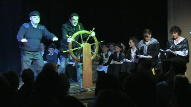 A play about the tragedy by local playwright Joe Burns was performed on Sunday night