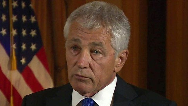 Outgoing US defence secretary Chuck Hagel