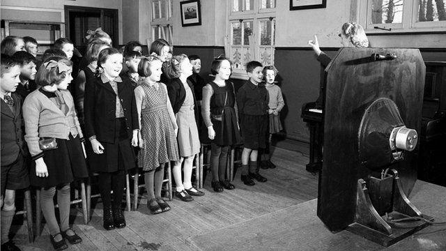 Singing class in a school