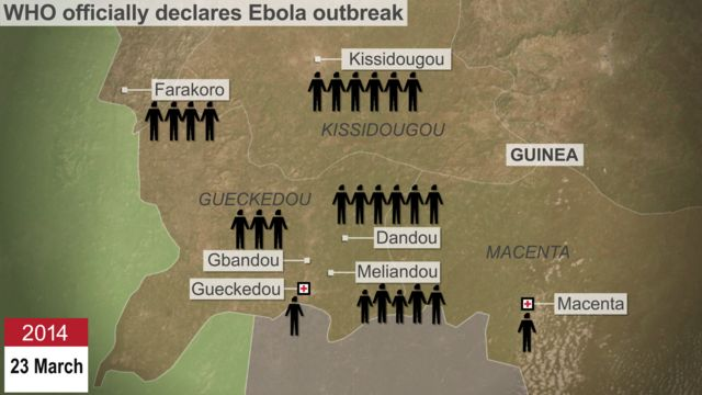 Tracing the Ebola outbreak animation