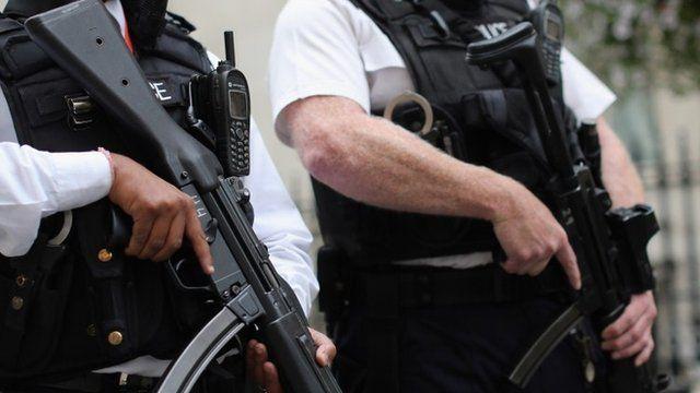 Armed Metropolitan Police officers