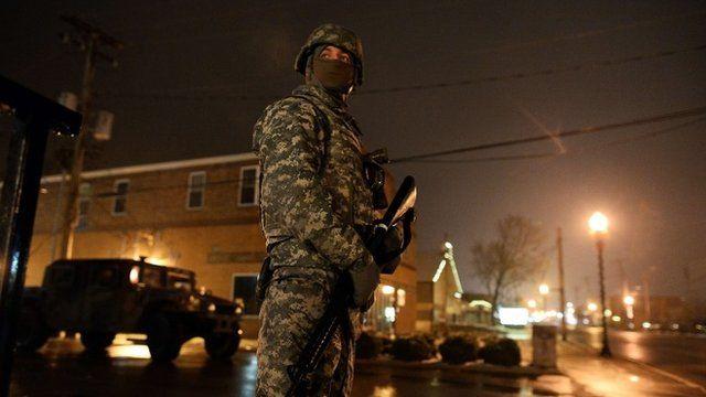 A National Guard trooper