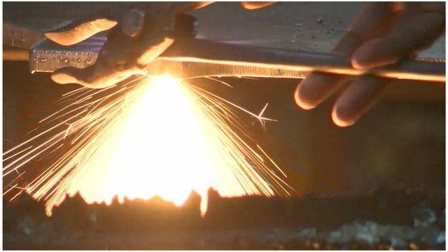Metalworking in Indian factory