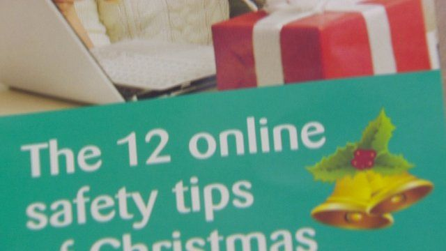 The police have issued tips to help Christmas shoppers stay safe online