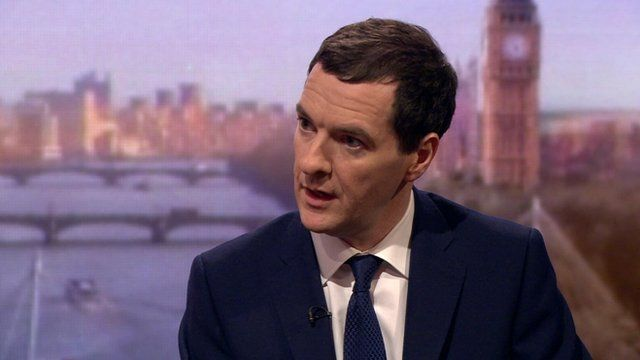 Goerge Osborne on The Andrew Marr Show