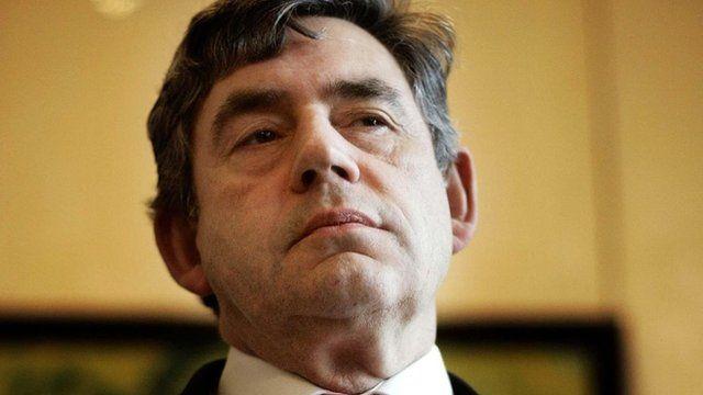 The former prime minister, Gordon Brown