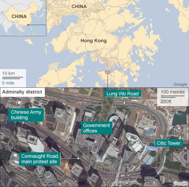 Hong Kong protests: Arrests as Admiralty site is cleared