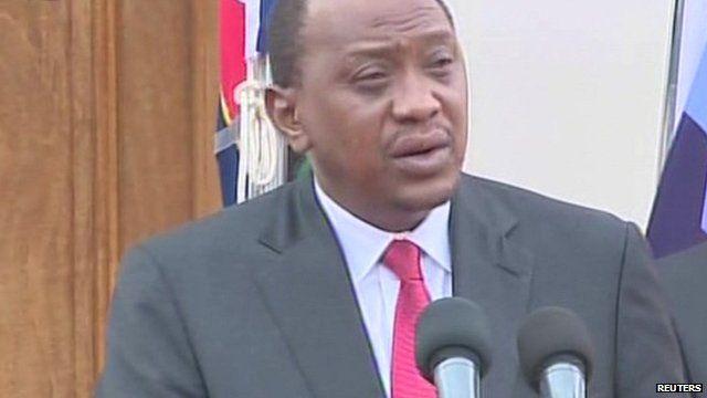 Kenyan president Uhurua Kenyatta